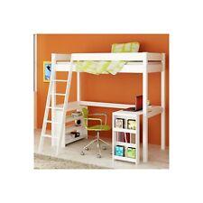 Venus White High Sleeper Bed with Desk VEN001