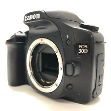 Canon EOS 30D 8.2MP Digital SLR Camera Black Body Only Charger and Battery Strap