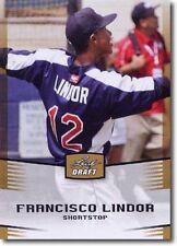 2012 LEAF DRAFT GOLD INDIANS FRANCISCO LINDOR RC NM-MT