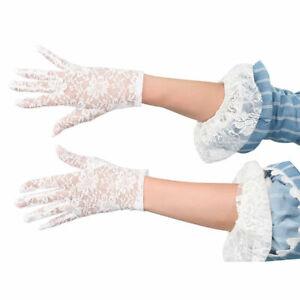 Elegante kurze Spitzen-Handschuhe in diversen Farben