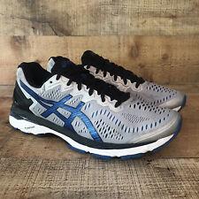 New listing Asics Mens Gel Kayano 23 Gray Blue Walking Running Shoes T646N Mens Size 10