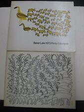 Lot 2 First Nation Inuit Eskimo Art Baker Lake Prints Canada Nunavut 1973-75