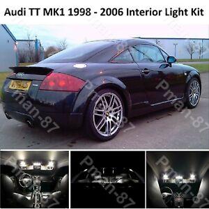 NEW AUDI TT MK1 8N3 1998-2006 LED INTERIOR UPGRADE LIGHT KIT SET XENON WHITE