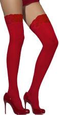 Medias con liguero de mujer rojos sin marca
