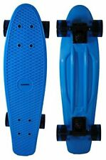 S4O Retro Style Full Deck with Wheels Cruiser Complete Skateboard Blue Ice