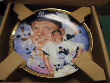 Mickey Mantle Best of Baseball Porcelain Plate The Hamilton Collection W/ Coa