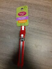 Whisker City Red Reflective Stripe Breakaway Fashion Adjustable Cat Collar NEW