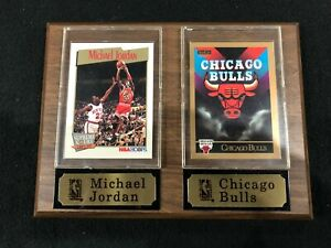 Michael Jordan Chicago Bulls 2 Card Plaque with Nameplates NBA Licensed
