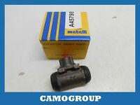 Cylinder Rear Brake Rear Wheel Brake Cylinder Metelli RENAULT 21 040358