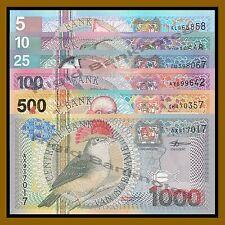 Suriname 5 10 25 100 500 1000 Gulden 6 Pcs Set, 2000 P.146-151 Uncirculated  Unc