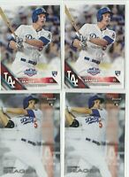 Corey Seager Rookie Card lot 2 Topps Opening Day & 2 Topps Finest RC 2016 Dodger