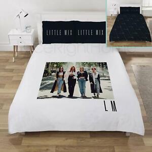 Little Mix LM5 Double Duvet Cover Set Reversible White / Black Bedding Girls