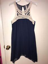Orange Creek Crochet Lace Sleeveless Dress Prom Party Short Club Dress Small
