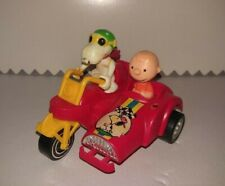 Snoopy Friction Motorcycle Aviva Toy 1972 Peanuts Charlie Brown WORKS!
