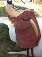"""New Deep Seat Leather Dressage Saddle (Available size 16"""" 17"""" 18"""")"""