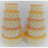 Lot Of 6 Yangse Melamine Two Compartment Sauce Dish 74006