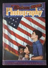 JULY 1942 MINICAM PHOTOGRAPHY UNITED WE STAND VINTAGE FLAG MAGAZINE