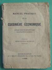 ANCIEN MANUEL DE LA CUISINIERE ECONOMIQUE
