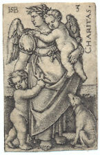 Hans Sebald Beham . Charitas 1539 Kupferstich Pauli 133 Nürnberg Love Engraving
