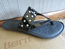 NEW BORN BORN KRYSTEN BLACK SANDALS WOMENS 7 FREE SHIP