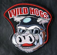 WILD HOGS  MOVIE JACKET BIKER VEST MOTORCYCLE BACK PATCH  hook made in USA