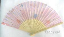 20X Chinese Silk folding Bamboo Hand Fan Fans Art Handmade Flower