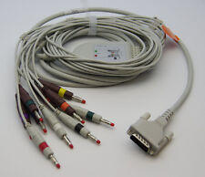 Schiller 10 Lead ECG/EKG Cable AHA Banana 4.0mm FDA/CE Approved, new , in  USA