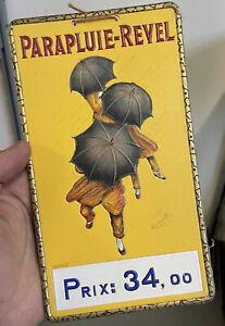 Carton Parapluie Revel Publicité no Tôle Publicitaire Ancienne Pub Cappiello