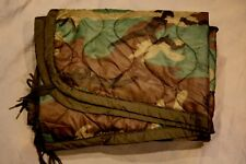 "Woodland Camo Woobie Ranger Blanket/ Poncho Liner  58""x 90"""