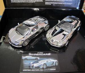 Scalextric C3169 HyperCars Chrome Bugatti Veyron Mercedes Benz SLR Slot