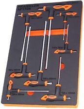 Franklin Tools 8 PEZZI T-Handle Chiave Torx Star Set T10-T50 in schiuma EVA AF1708