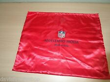 Beautiful Red Anastasio Moda Made in Italy NFL Purse Dust Cover Storage Bag