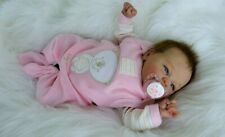"Reborn Baby Girl doll  gorgeous little ✿✿ Sophia ✿✿ 16"" with rooted hair"