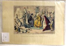 John Leech Antique Coloured Print. Edwards Arm in The Hands of His Medical......