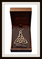 BRONZE AGE ~ CELTIC TRIANGLE KNOT PENDANT NECKLACE ~ FROM ST JUSTIN FREE P&P