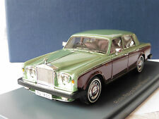 ROLLS ROYCE SILVER SHADOW II 1978 LIGHT GREEN DARK RED NEO 44180 1/43 RHD