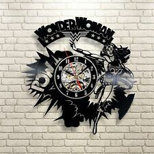 Wonder Woman Costume Super Hero_Exclusive wall clock made of vinyl record_GIFT