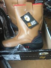 Vr6 VR690 Grizzly Tan Fleece Lined Leather Rigger Work Boots Safety Toe. Uk 5