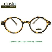"NWT$39.99 MIASTO RETRO ROUND ""LENNON/ POTTER"" SMALL READER READING GLASSES +2.50"