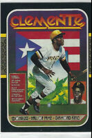 1986 Donruss Roberto Clemente Hall Of Fame Diamond King Puzzle Card #612