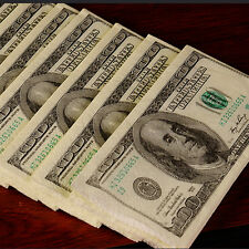 1 Bag/10pcs 100$ Dollars Napkin US Dollar Bill Money Paper Towel Party Tricky