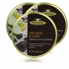 Simpkins Travel Sweets Chocolate Orange and Lime - 3 Pack