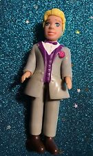 POLLY POCKET DOLL RICK DYLAN  BOY  GUY WEARING FORMAL OUTFIT WEDDING  / PROM