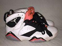 Youth 5.5 2012 Nike Air Jordan 7 Retro White Black Hot Lava Shoes 442960-106