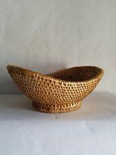 Vintage Straw Woven Basket Fruit Vegetable Basket Boho Decor