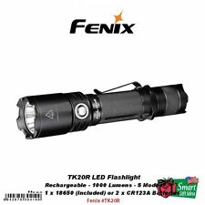 Fenix TK20R LED Tactical Flashlight, Rechargeable, 1000 Lumens, 5 Modes #TK20R