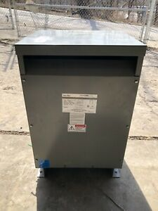 Federal Pacific 3 Phase Transformer 30 kVA, 480/ 208Y/120  Cat# T4T30E IMP 5.02%