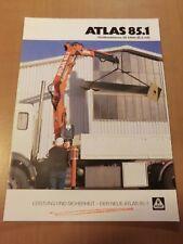 Prospekt ATLAS Weyhausen Ladekran 85.1 Ausgabe 1998