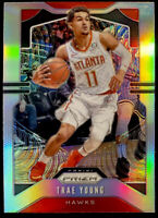 🔥 Trae Young 2019-20 Panini Prizm SILVER Holo REFRACTOR 2nd Year! CLEAN! Hawks