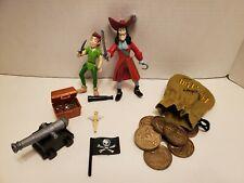 Disney Store PETER PAN & CAPTAIN HOOK Action Figure Set MATTEL